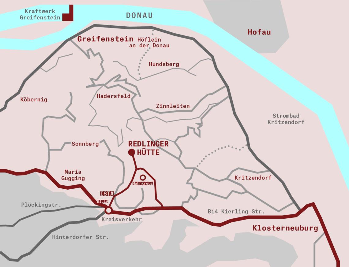 Karte Anfahrt Redlinger Hütte